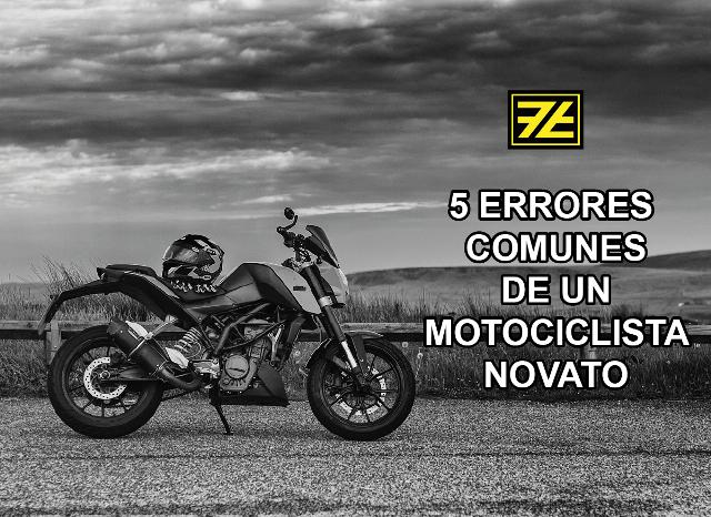 Los 5 errores más comunes de un motociclista novato
